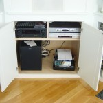 All components housed in cabinet below